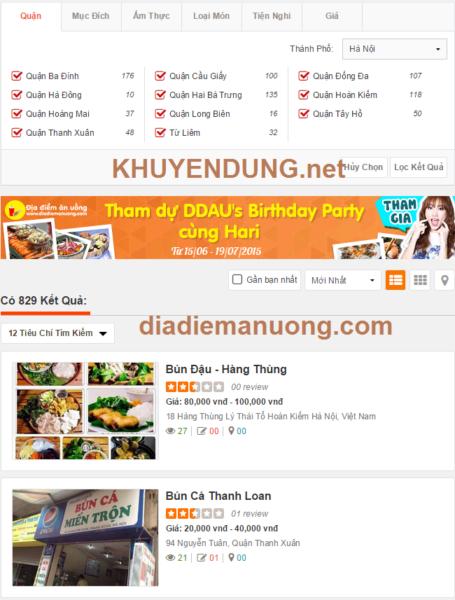 Diadiemanuong.com day la trang minh thay thich nhat cochuc nang loc ket qua va phan loai cac nha hang