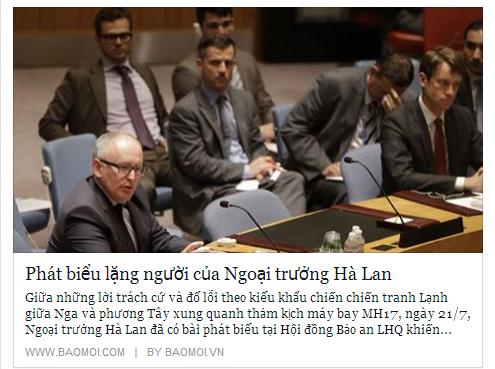 Phat bieu lang nguoi cua Ngoai truong Ha Lan