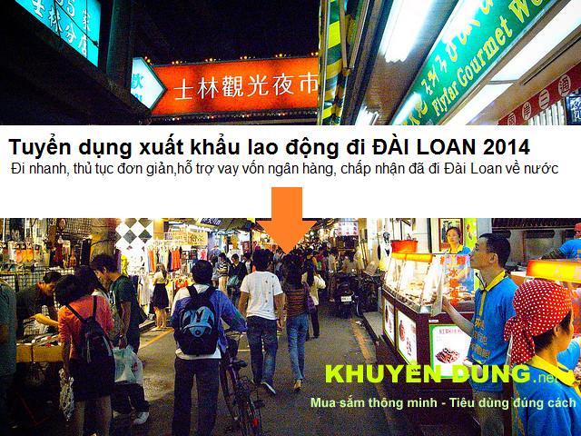 Tuyển lao động ( XKLĐ ) đi Đài Loan năm 2020 số lượng lớn 1