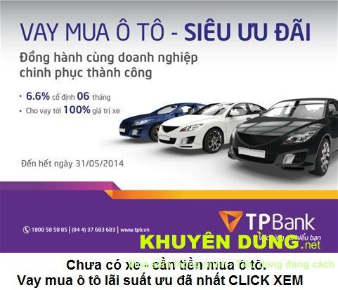 Chưa có xe cần vay tiền mua ô tô click vào đây xem chi tiết