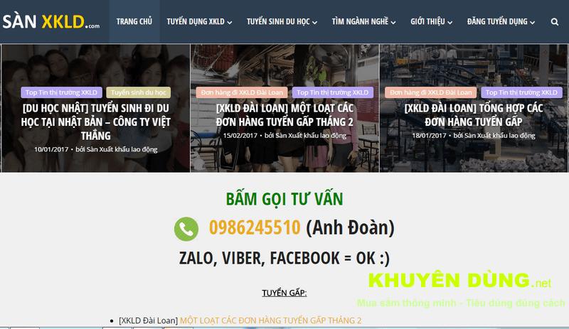 Chuyên Thiết Kế Website XKLD ( xuất khẩu lao động ) làm cực hiệu quả thị trường Nhật Bản, Đài Loan